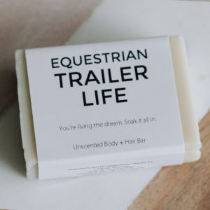 Equestrian Trailer Life - Unscented Hair and Body Bar - Natural Vegan Cruelty Free Soap for Dirty Equestrians