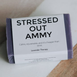 Stressed Out Ammy Lavender Soap - Natural Vegan Cruelty Free Soap for Dirty Equestrians